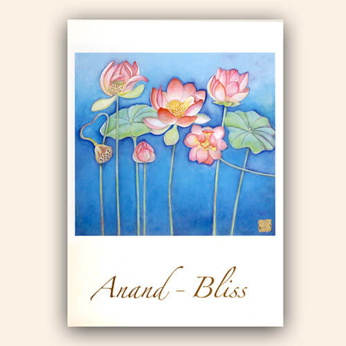 "Postcards ""Anand-Bliss Lotus Flowers"", 10 pcs."