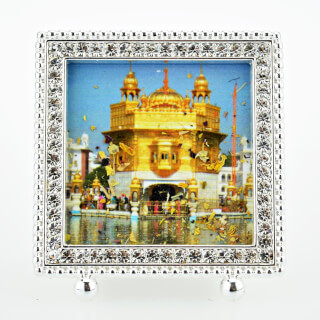 Santo Dhur Frame Golden Temple Silver, square, small