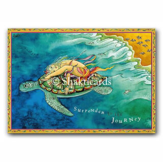 Surrender to the Journey (tortue) Shakticard, 14,8 x 10,5 cm