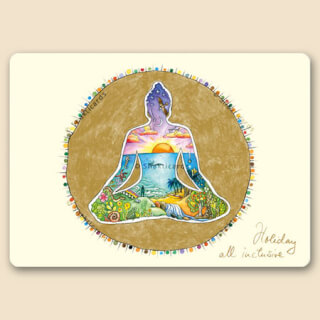 Holiday all Inclusive, Buddha Shakticard, 14,8 x 10,5 cm