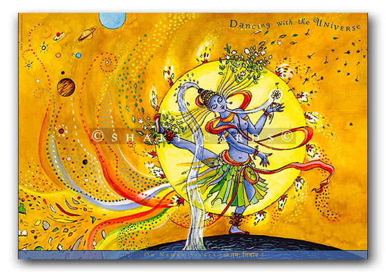 "Shakti Poster ""Dancing with the Universe"", A3"
