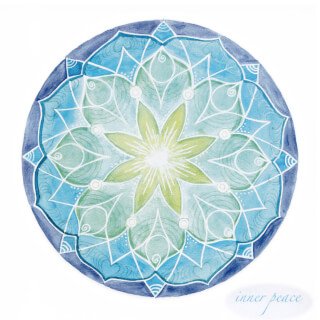 Inner Peace Carte Mandala Soulflower, 14,7 x 14,7 cm