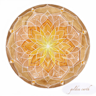 Golden Earth Cartes Mandala Soulflower, 14,7 x 14,7 cm