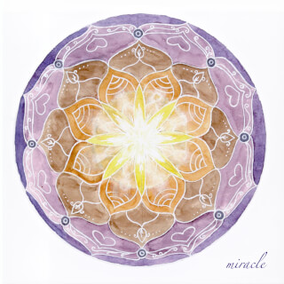 Miracle Soulflower Mandala Card, 14.7 x 14.7 cm