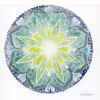 Radiance Carte Mandala Soulflower, 14,7 x 14,7 cm