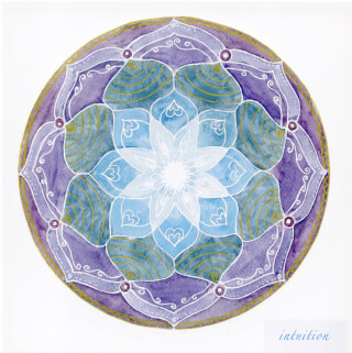 Intuition Soulflower Mandala Card, 14.7 x 14.7 cm