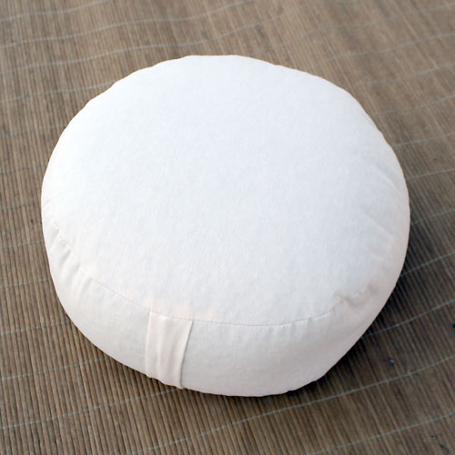 Meditation cushion Classic, round, Natural White