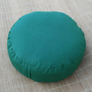 Meditation cushion Classic, round, Dark Green