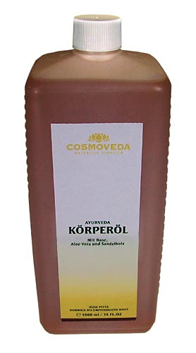 Body Oil Pitta-Rose by Cosmoveda, 1 liter