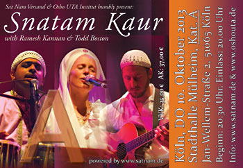 Ticket Snatam Kaur K�LN, A-Category