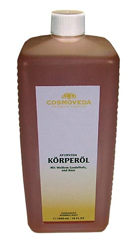 Body Oil Sandalwood by Cosmoveda, 1 liter