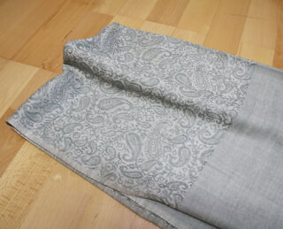 Meditation Shawl Water-Grey