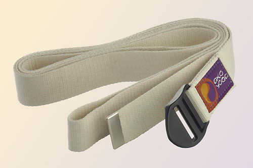 Yoga Belt White, 38 mm x 2,5 m