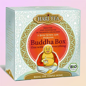 Buddha Box Hari Tea assorti-<br/>ment, biologique, 11 sachets