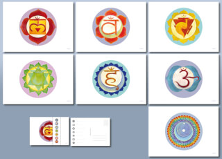 Chakra Art Postcards, 7 pcs./Set