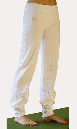 Yoga trousers Devata, Harem trousers, White