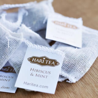 Hari Tea in fine cotton bags, or loose