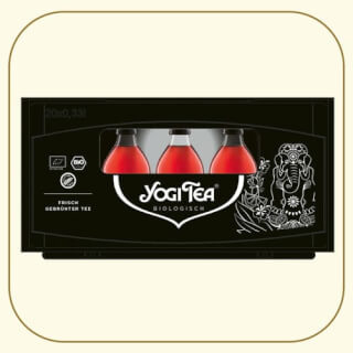 The Yogi Tea Ice Tea bottle crate: with attention to detail