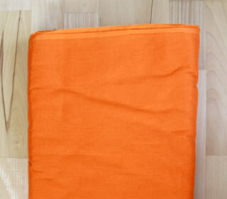"Turbanstoff Voile, Orange ""Khalsa Kesri"", 1 Meter"