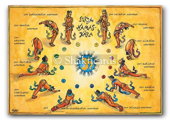Shakti Poster Surya Namaskara, A3 | Sat Nam