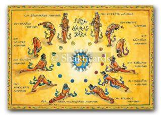 Surya Namaskara Shakticard, 14,8 x 10,5 cm