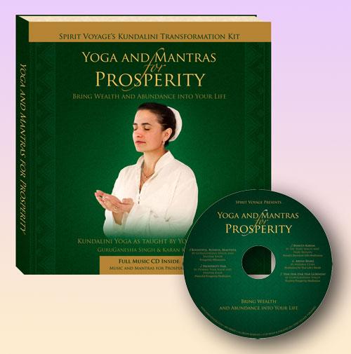 Yoga Matras: Yoga & Mantras For Prosperity Book + CD Set By Karan Kaur