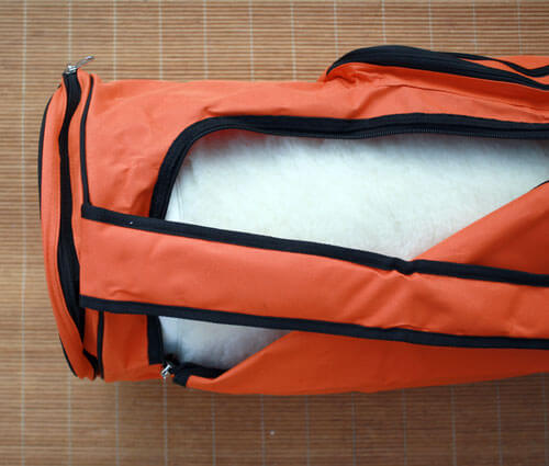 Sac pour tapis de yoga Sat Nam, Nylon 70 cm, Orange