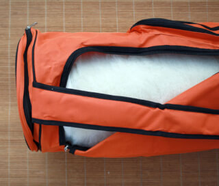 Yogatasche Sat Nam, Nylon 70er, Orange
