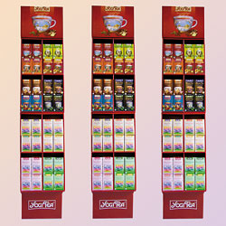 Yogi Tea representative Floor Displays
